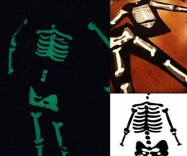 帕格和猪:在黑暗的骷髅服装中发光