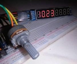7-segment to Display ADC #Arduino Values, #Arduino