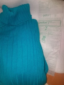 Adding the Fusible Stabilizer to the Inside of the Sweater