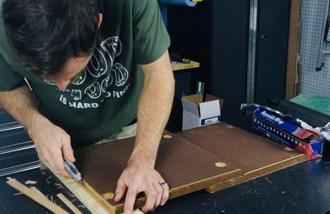 Cut and Apply Wood Veneer to Record Table Body