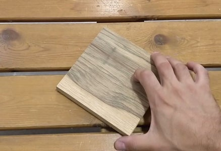Preparing the Top Wooden Board - Step 1