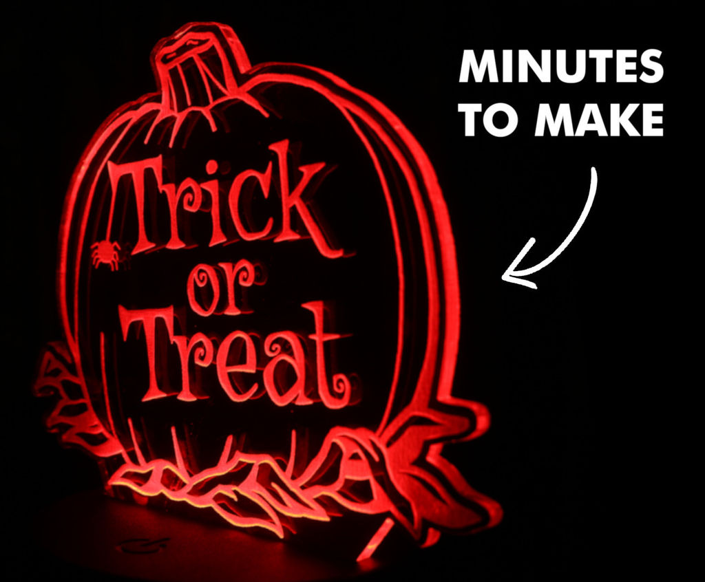Picture of How to Make a Halloween Sign Using Perspex & L.E.D's