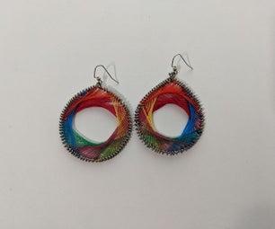 Woven Rainbow Earrings