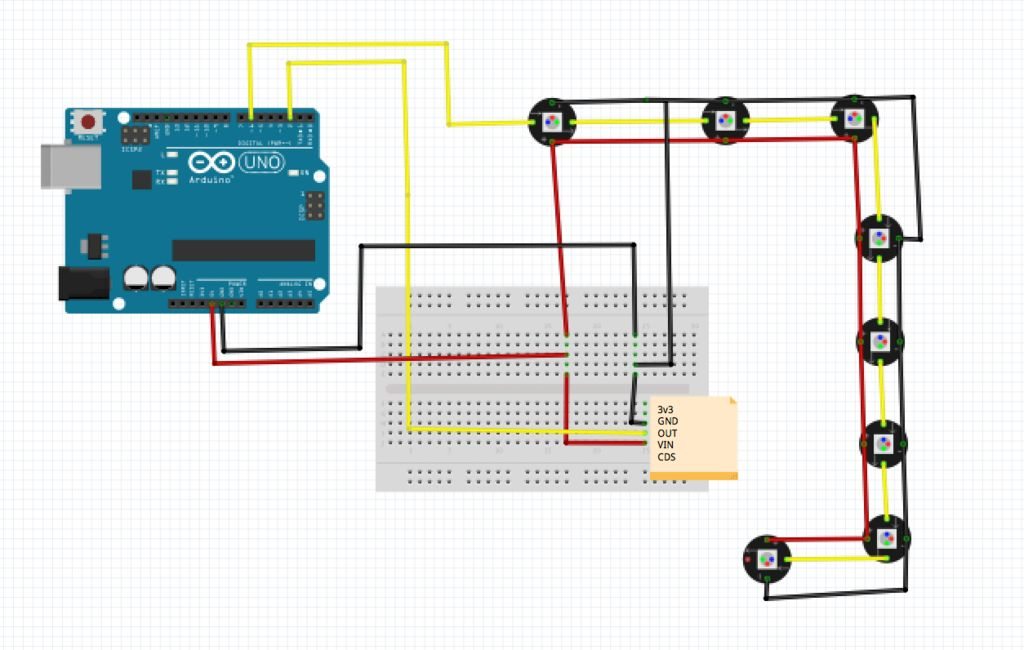 Picture of Fritzing Schematic
