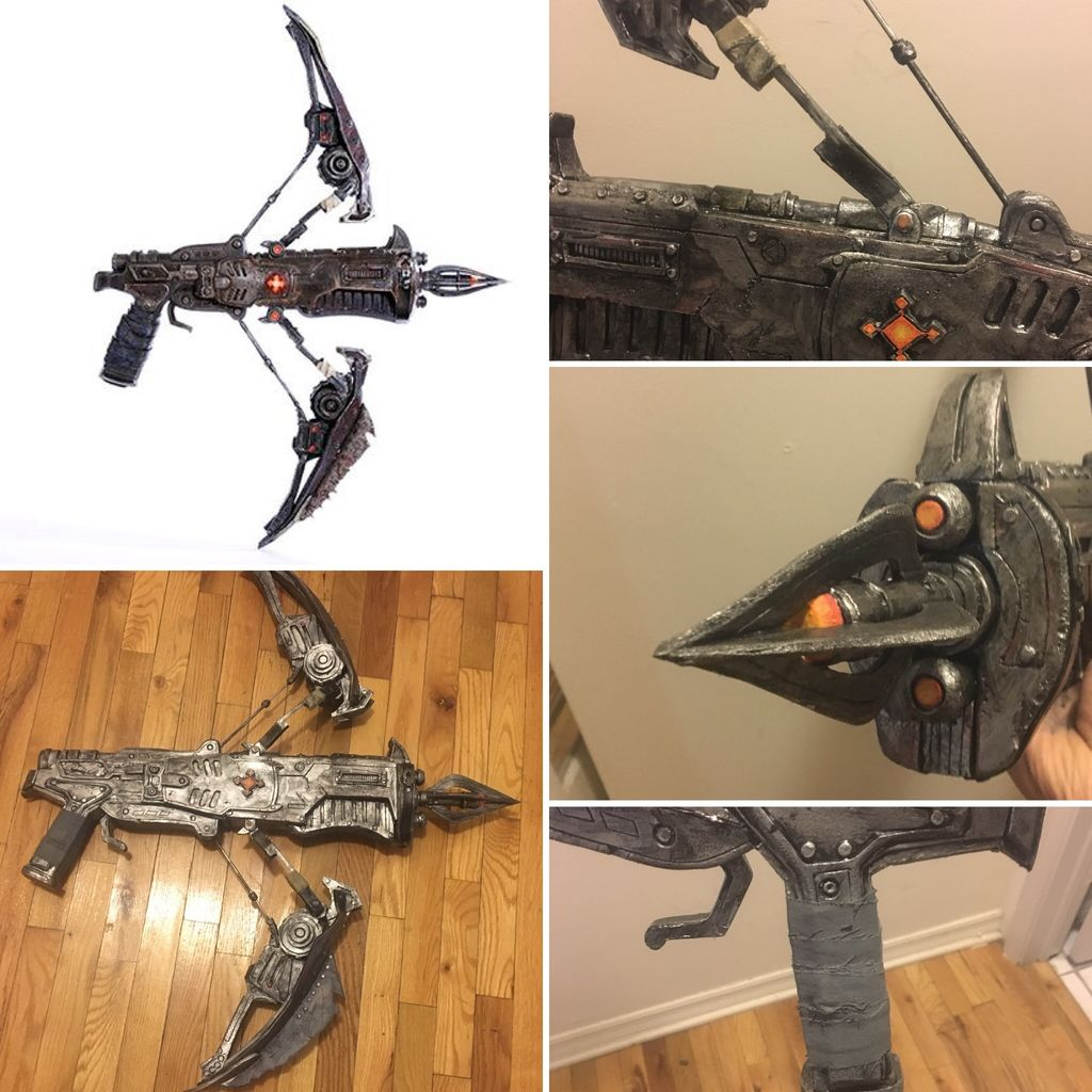 """Picture of How to Make a Gears of War """"Torque Bow"""" Prop"""