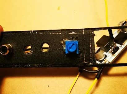Picture of Attach the Potentiometer to the Front Panel