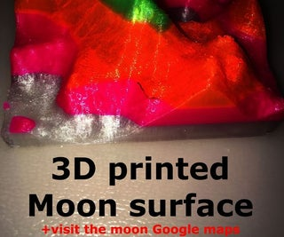I 3D-printed My Own 3D MOON Surface With NEON Colors