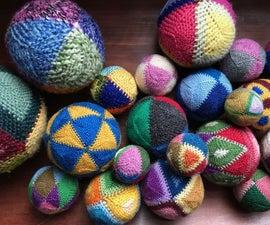 Singlade Balls From Yarn Scraps