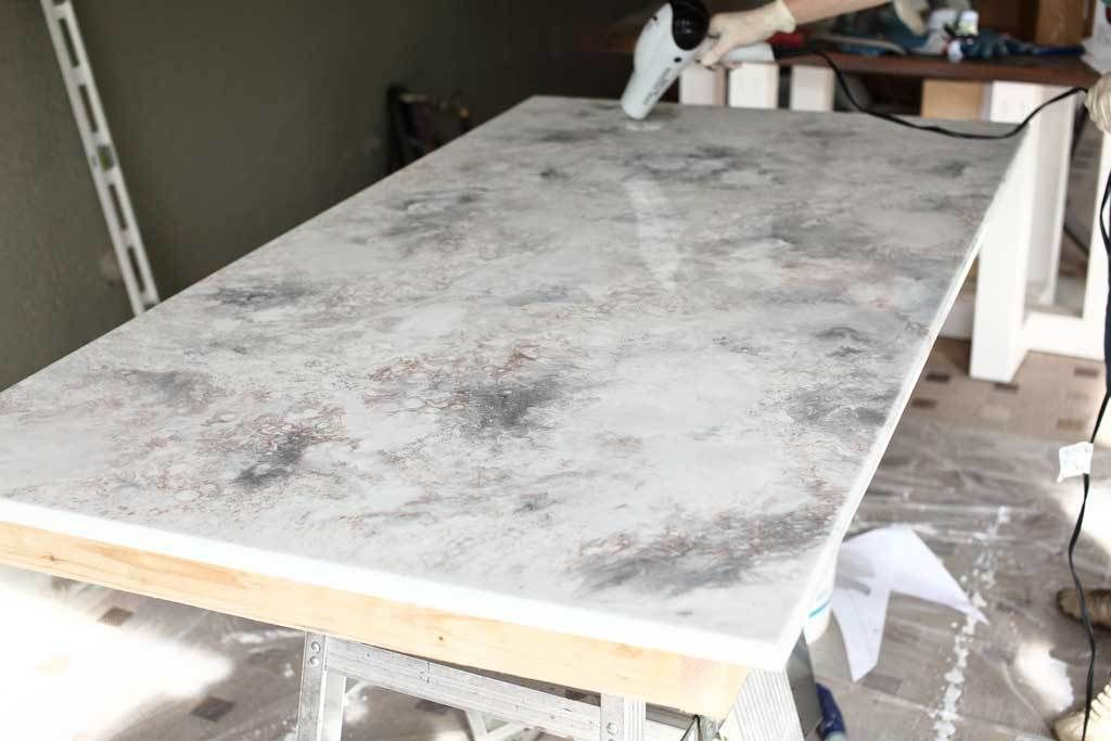 Picture of Apply Stone Coat Epoxy to Tabletop and Side Pieces