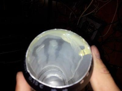 Glue Plexi Inside the Can