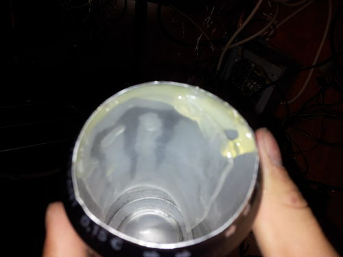 Glue Plexi Inside the Can