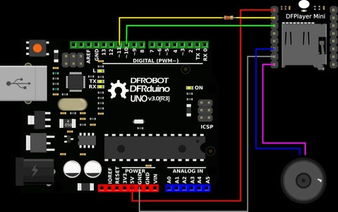 (Part 2) Hookup the DF Player Mini to the Sensor!