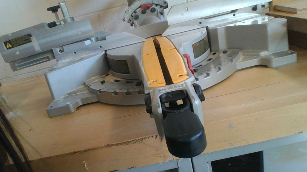 Picture of The Miter Saw's Scale Allows You to Cut at an Angle.