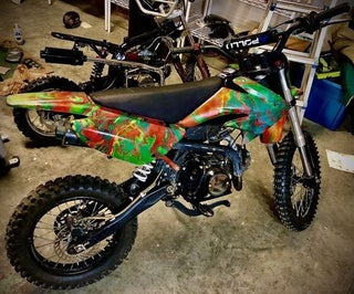Hydro-Dipped Dirt Bike