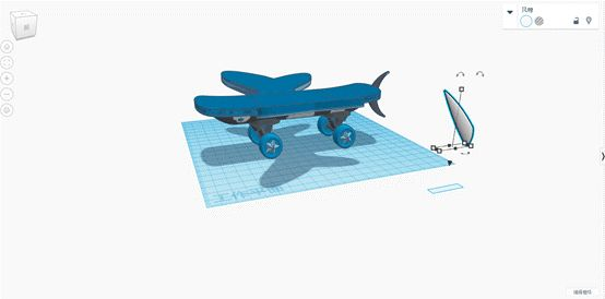 """Picture of Step 5: Add """"zhuangzhou Dream Butterfly"""" Cultural Elements Andfashionable Letter Elements,shape the Main Body of Whale, Adddream Butterfly Branch and Modify It With English Letters. Build a Whale Tail and Install a Positioning Chip in the Tail."""