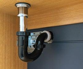 如何安装浴室水槽排水管