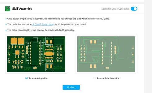 Ordering the PCB