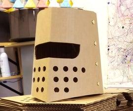 纸板骑士头盔