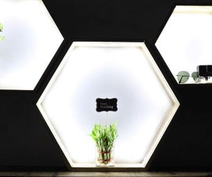 Hexagonal Light Up Shelves
