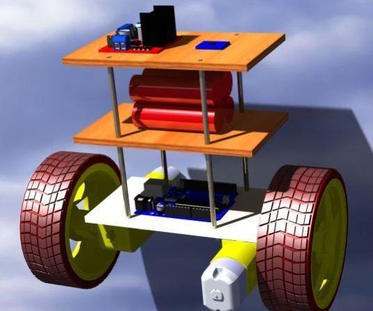 DIY Self Balancing Robot DC Motors Bluetooth HC-05