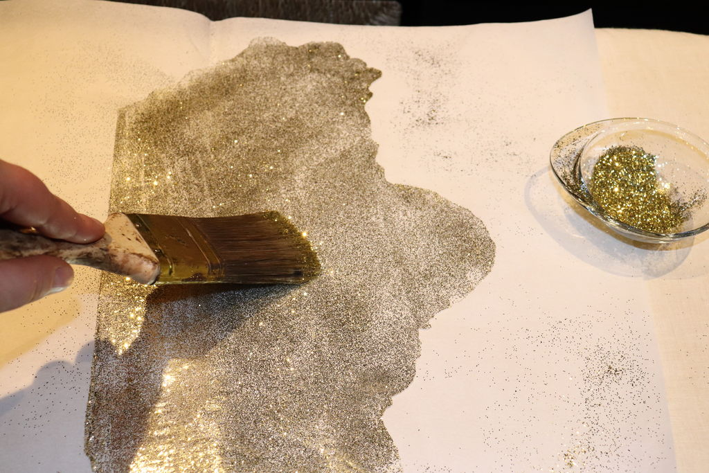 Picture of Making the Glittered Sheets