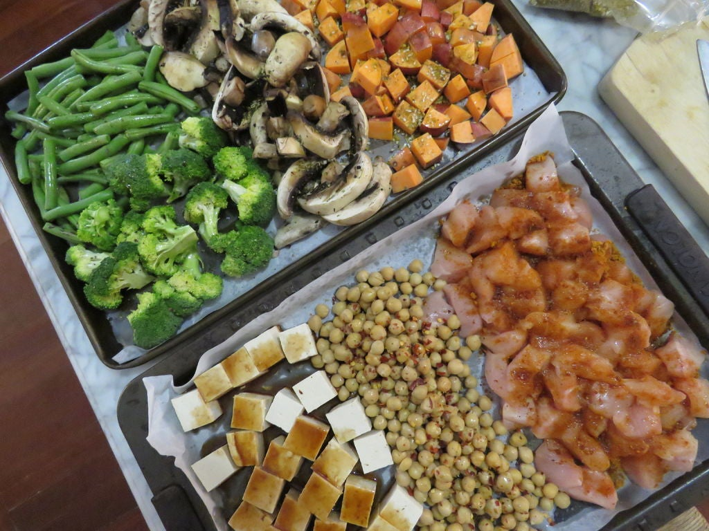 Picture of Season the Vegetables and Proteins