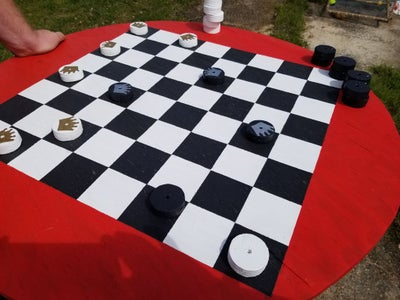 Outdoor Checkers/Chess Table