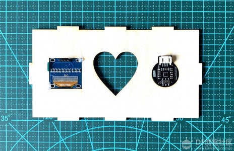 Secure the LCD Display and Heart Rate Sensor With Hot Melt on the Panel