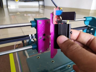 MAGNETIC MOUNT AND THE LASER MODULE