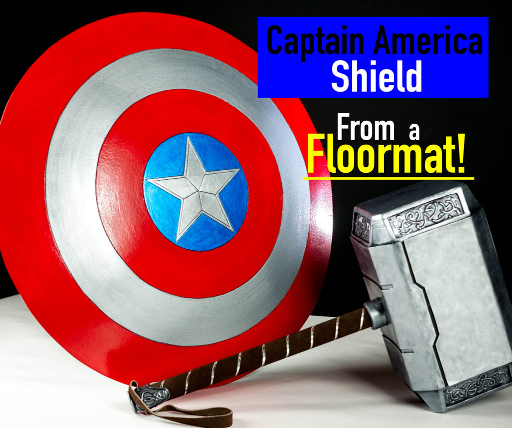Picture of How to Make a Captain America Shield From Foam