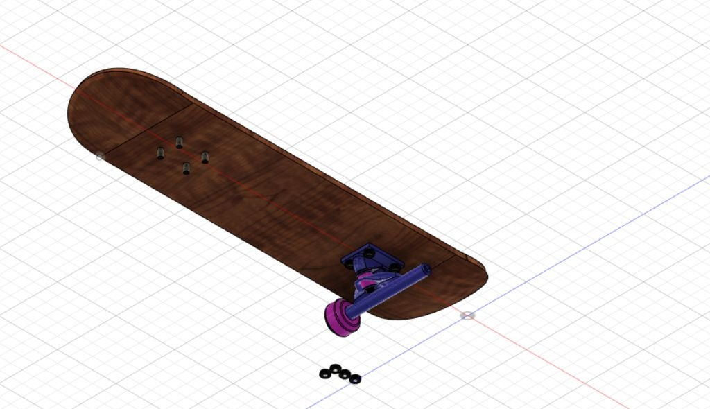 Picture of Build the Basic Bridge and Wheels of Skateboard.