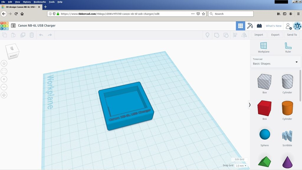 Picture of Modeling on TinkerCAD