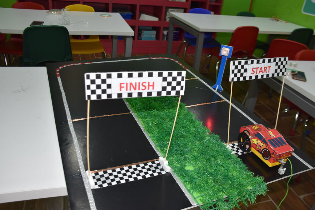 Picture of Smart Racing Track With (SAM Lab + Makey Makey + Scratch)