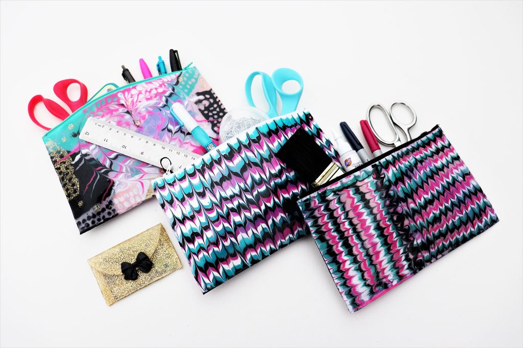Picture of Pouches Made Almost Entirely of Hot Glue