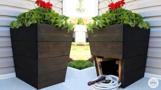 DIY花盆与隐藏软管存储