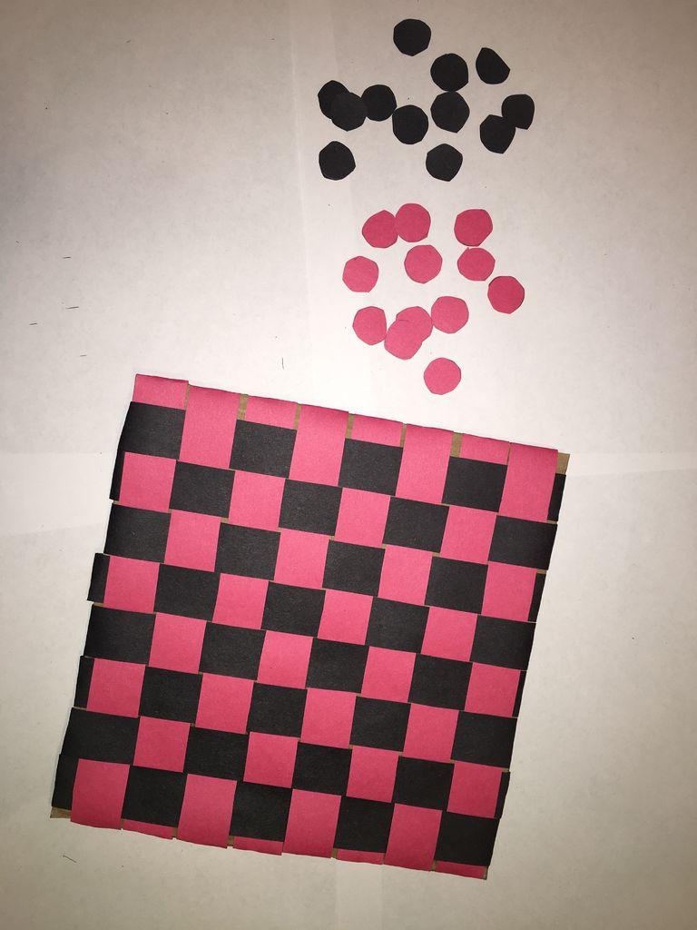 Picture of Cardboard Checkers Board