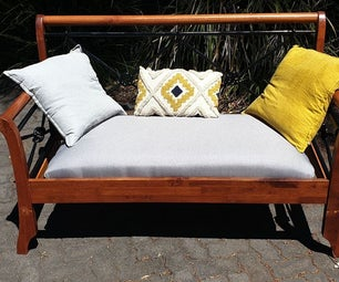 Convert an Old Bed Into a Bench Seat