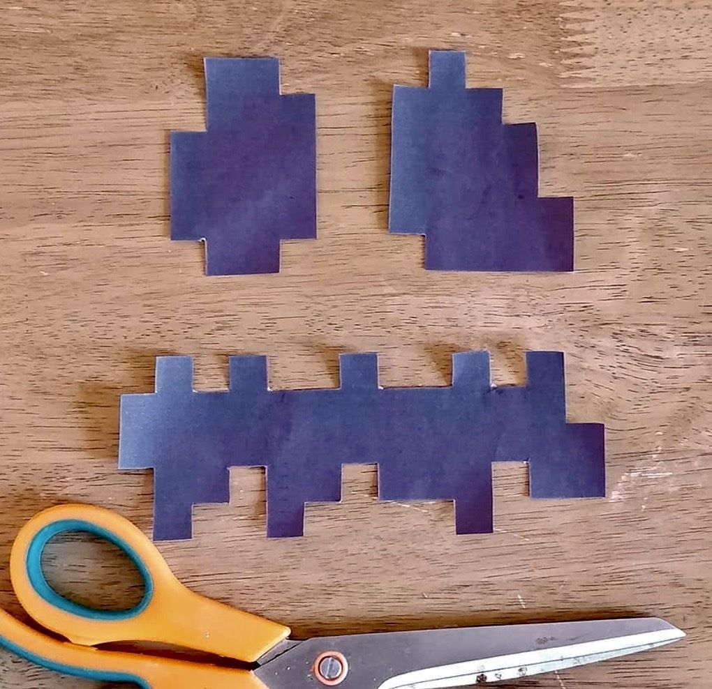 Picture of Print and Cut Out Minecraft Jack-o'-lantern Texture
