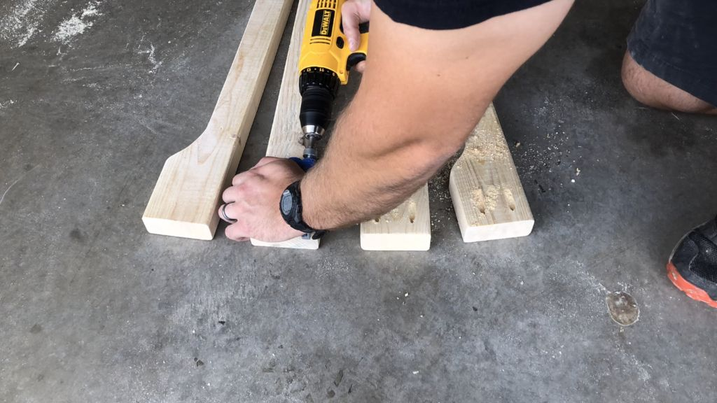 Picture of Drill Some Pocket Holes in the Top of the Legs