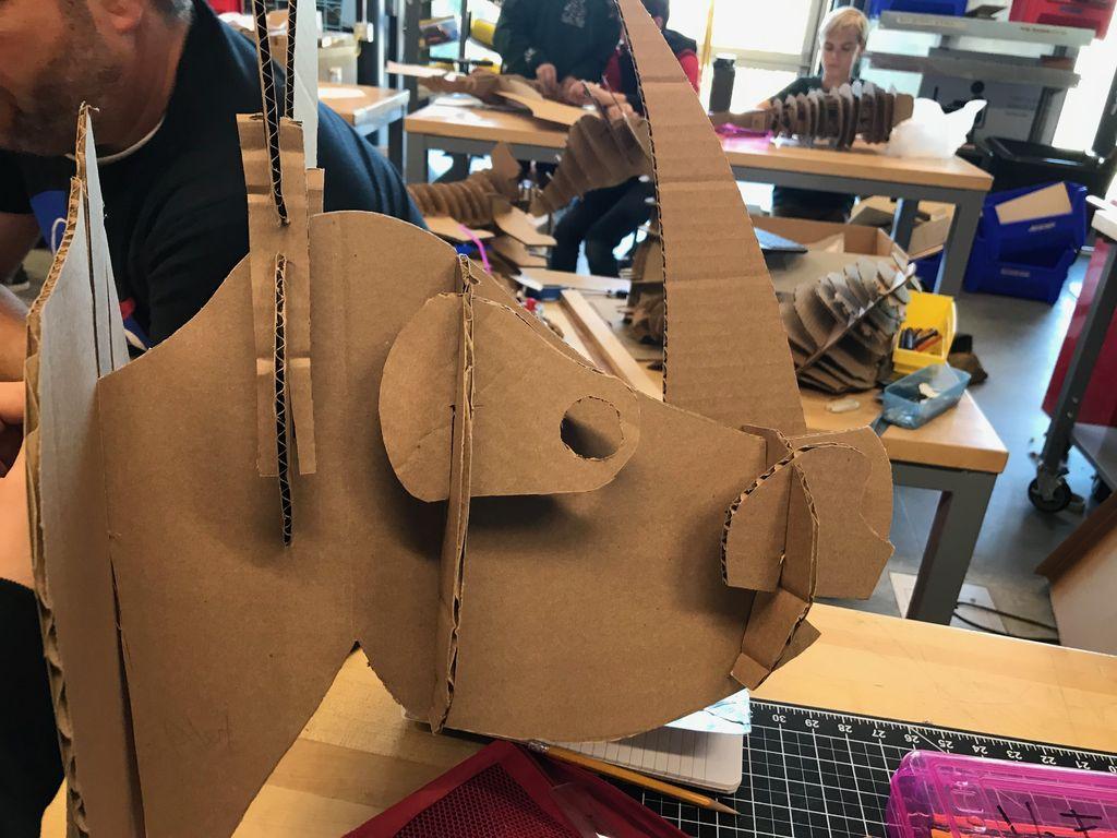 Picture of AMAZING Realistic Cardboard Rhino Head