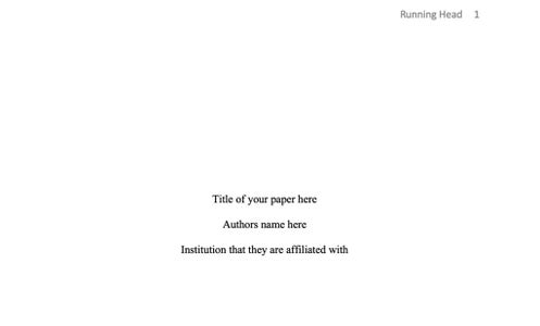Creating the Title Page