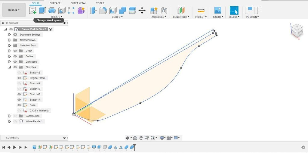 Picture of Modeling the Paddle Blade in Fusion 360