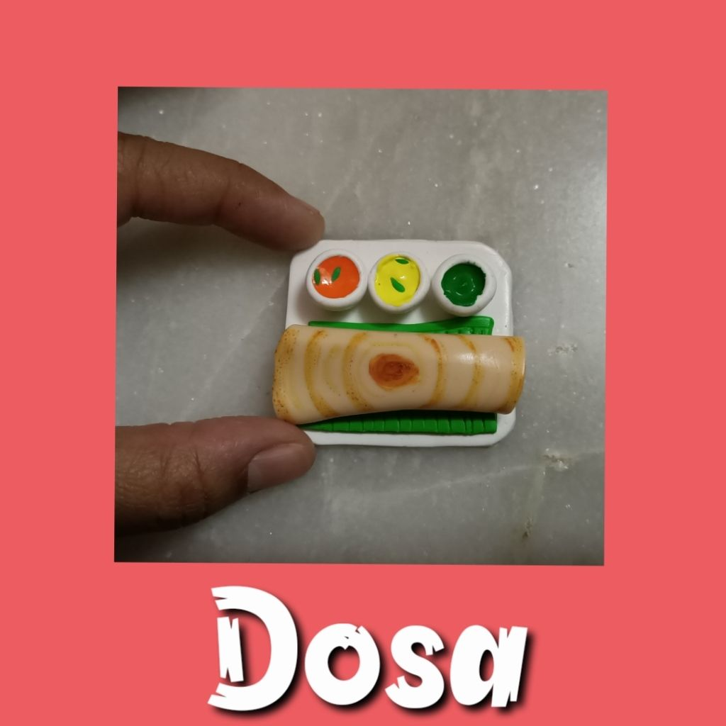 Picture of Miniature Dosa Fridge Magnet From Clay