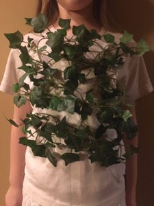 Safety Pin the First Garland Onto Shirt