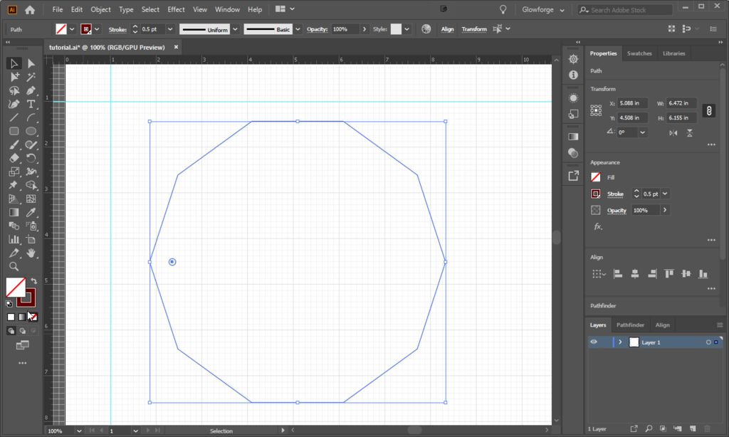 Picture of Create Decagon With Screw Holes