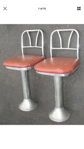 Re-upholstering the Diner Stools and Polishing Chrome