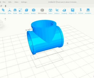 SelfCAD 3D T Pipe Tutorial