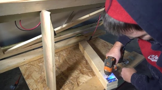 Create a Hinged Bracket to Support the Panels at a 45 Degree Angle