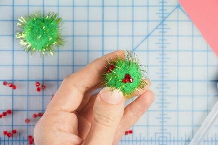 Make Virus Puppets: Glue the Beads