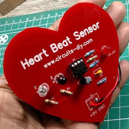 Picture of Heartbeat Sensor Circuit Using LM358